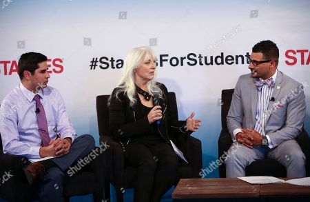 Born This Way Foundation Co-Founder Cynthia Germanotta (center) with Born This Way Foundation Graduate Research Assistant Raul Palacios (left) and nationally-recognized education policy expert Dr. Steve Perry (right) during a panel discussion at the Staples for Students Kindness Summit in Chicago. Continuing its long-standing commitment to supporting students and teachers through the Staples for Students program, Staples held the first Staples for Students Kindness Summit, an event bringing together youth, educators and experts for an engaging discussion about the importance of promoting kindness to create a positive classroom experience as students across the country begin a new school year