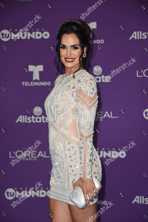 Editorial picture of Premios Tu Mundo, Arrivals, American Airlines Arena, Miami, USA - 24 Aug 2017