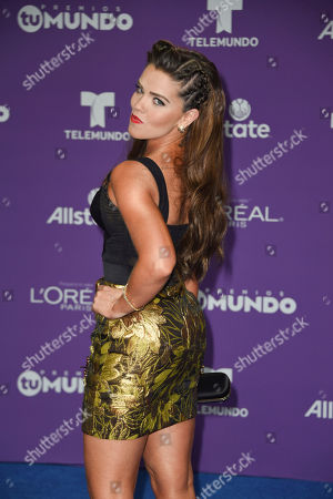 Editorial picture of Premios Tu Mundo, Arrivals, American Airlines Arena, Miami, USA - 24 Aug 2017