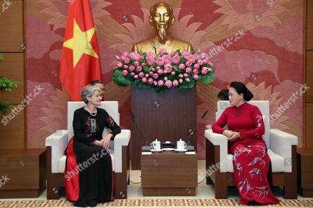 Irina Bokova and Thi Kim Ngan