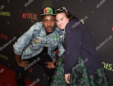 Stock Photo of Actor Chris Redd and Actress Betsy Sodaro