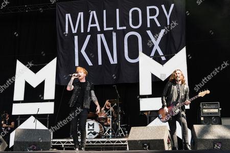 Mallory Knox performing. Mikey Chapman, Sam Douglas