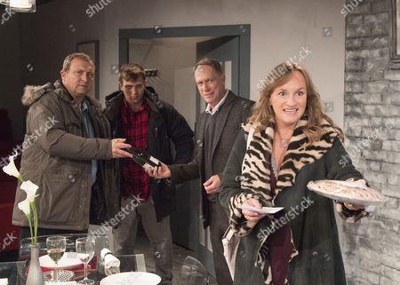 Stock Photo of Alex Lowe as Bill, David Leopold as Curtis, Todd Boyce as Michael, Lisa Stevenson as Tamara