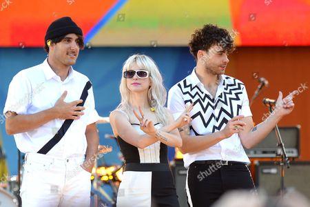 Paramore - Zac Farro, Hayley Williams, Taylor York