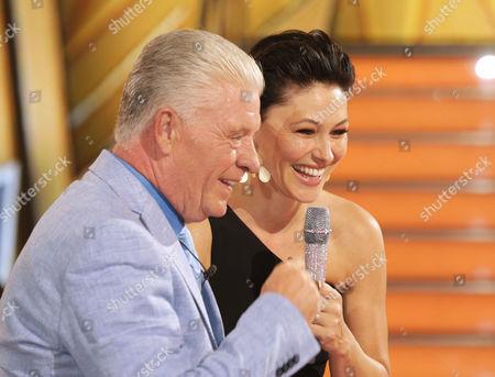 Stock Photo of Derek Acorah and Emma Willis