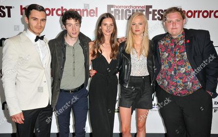 Stock Picture of Julian Kostov, James Bloor, Vanessa Grasse, Jessica Madsen and Sam Coleman