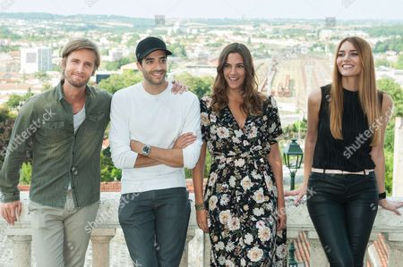 Philippe Lacheau, Tarek Boudali, Charlotte Gabris and Andy Raconte