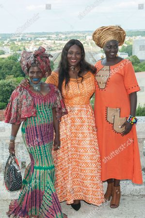 Stock Image of Apolline Traore, Amelie M Baye and Naky Sy Savane