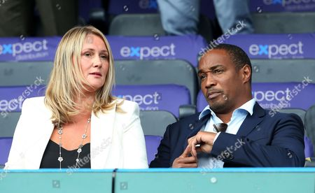 Paul Ince, father of Huddersfield Town's Tom Ince watches from the stand