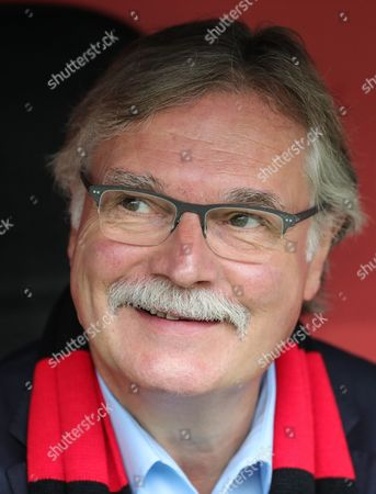 Michael Schade, Chief Executive Officer of Bayer Leverkusen, prior to the German Bundesliga soccer match between Bayer 04 Leverkusen and TSG 1899 Hoffenheim in Leverkusen, Germany, 26 August 2017.