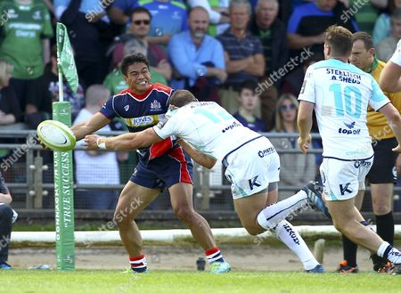 Editorial photo of Connacht Rugby v Bristol Rugby, Ireland - 25 Aug 2017