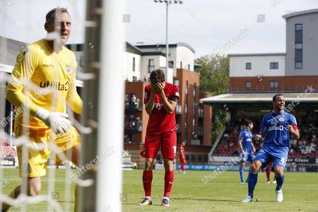 O's David Mooney misses pen during Leyton Orient vs Eastleigh, Vanarama National League Football at the Matchroom Stadium on 26th August 2017