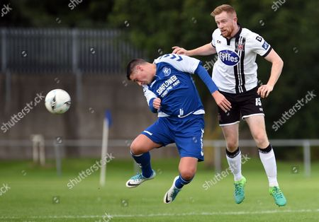 Crumlin United vs Dundalk. Dundalk?s Sean Hoare and Jake Donnelly of Crumlin