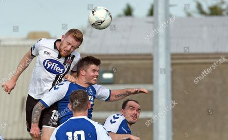 Crumlin United vs Dundalk. Dundalk?s Sean Hoare and Conor Murphy of Crumlin