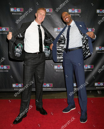 Brian Scalabrine, Jerome Williams Brian Scalabrine, left, and Jerome Williams, flash their JF. J Ferrar suits with custom linings, available only at JCPenney, on the red carpet of the BIG3 Championship game in Las Vegas, NV., in Las Vegas