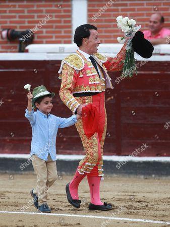Bullfighter Jose Ortega Cano with his son Jose Maria.