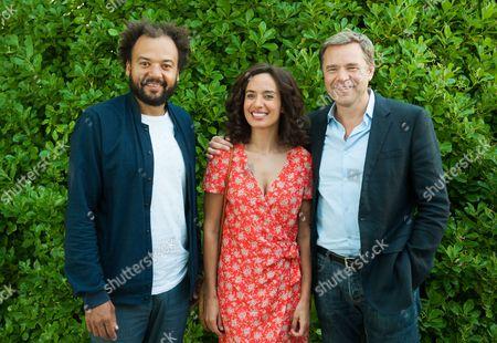 Fabrice Eboue, Amelle Chahbi and Guillaume de Tonquedec