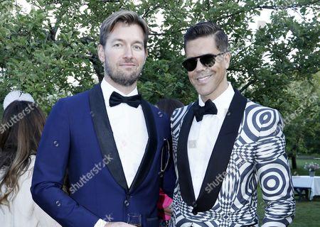 Stock Image of Derek Kaplan and husband Fredrik Eklund