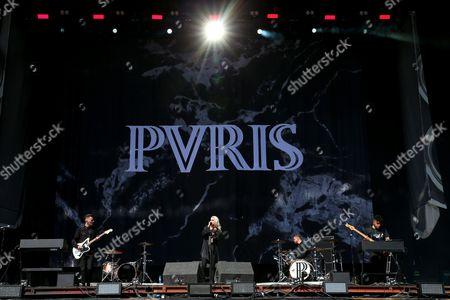 PVRIS - Alex Babinski, Lynn Gunn (aka Lyndsey Gunnulfsen and Lynn Gvnn), Justin Nace and Brian MacDonald