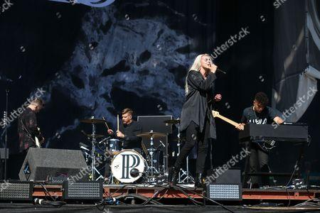 PVRIS - Alex Babinski, Justin Nace, Lynn Gunn (aka Lyndsey Gunnulfsen and Lynn Gvnn) and Brian MacDonald
