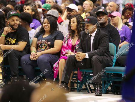 Ice Cube, Kimberly Woodruff and son O'Shea Jackson Jr.