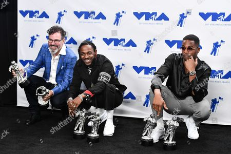 Stock Picture of Dave Meyers, Kendrick Lamar and Dave Free