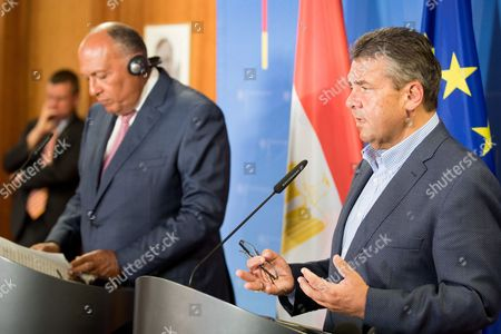 Editorial image of German Foreign Minister meets Egyptian counterpart in Berlin, Germany - 27 Aug 2017