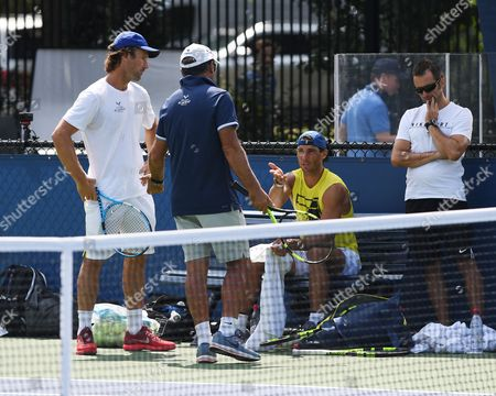 Rafael Nadal, Toni Nadal, Carlos Moya