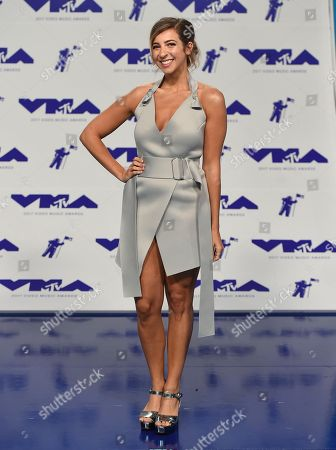 Gabbie Hanna arrives at the MTV Video Music Awards at The Forum, in Inglewood, Calif