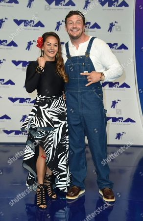Ilima-Lei Macfarlane, Matt Mitrione Ilima-Lei Macfarlane, left, and Matt Mitrione arrive at the MTV Video Music Awards at The Forum, in Inglewood, Calif