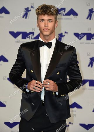 Stock Image of Nate Garner arrives at the MTV Video Music Awards at The Forum, in Inglewood, Calif
