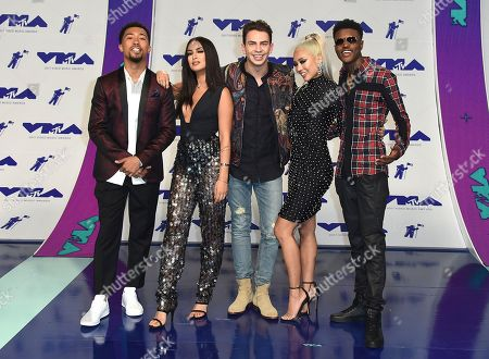 Lawrence Jackson, Tamara Dhia, Erik Zachary, Amy Pham, DC Young Fly Lawrence Jackson, from left, Tamara Dhia, Erik Zachary, Amy Pham and DC Young Fly arrive at the MTV Video Music Awards at The Forum, in Inglewood, Calif