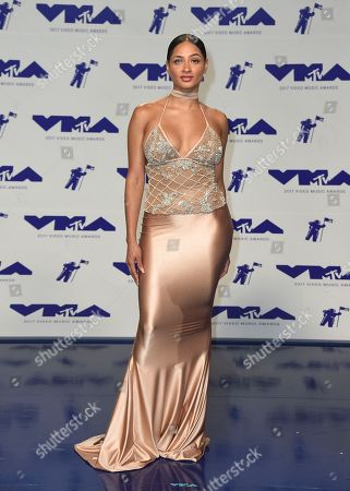 Tori Brixx arrives at the MTV Video Music Awards at The Forum, in Inglewood, Calif
