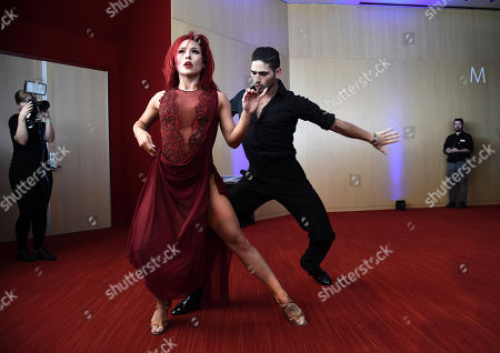 Sharna Burgess, Alan Bersten Sharna Burgess, left, Alan Bersten perform at the Choreography Nominee Reception at the Television Academy's Saban Media Center, in the NoHo Arts District in Los Angeles