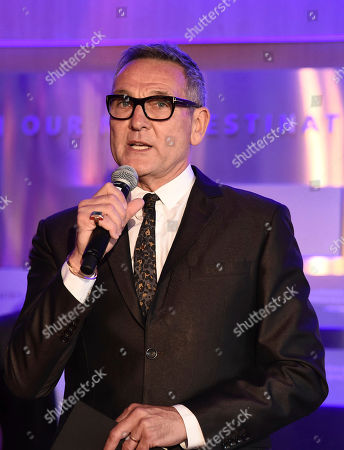 Jeff Thacker speaks at the Choreography Nominee Reception at the Television Academy's Saban Media Center, in the NoHo Arts District in Los Angeles