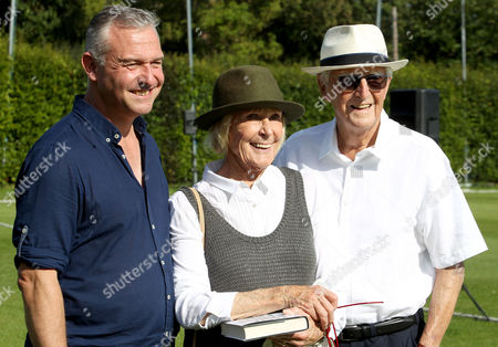 Stock Picture of Sir Michael Parkinson (right) with his wife Mary Parkinson and their son Sir Michael Parkinson Junior