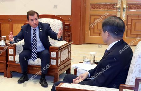 Moon Jae-in and Ed Royce