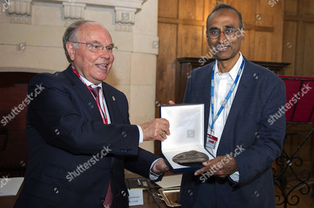 Editorial picture of Chemistry Nobel-laureate Venkatraman Ramakrishnan receives award in Spain, Santander - 28 Aug 2017