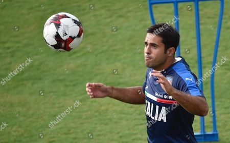 Italy's forward Martin Citadin Eder in action during a training session at the Coverciano Sports Center near Florence, Italy, 28 August 2017. Italy's national soccer team faces Spain in a 2018 World Cup qualifying soccer match in Madrid, Spain, 02 September 2017.
