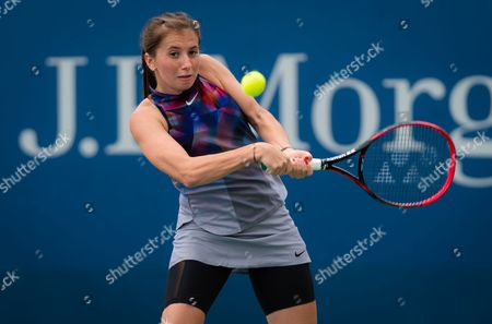 Stock Image of Annika Beck of Germany in action during her first round match