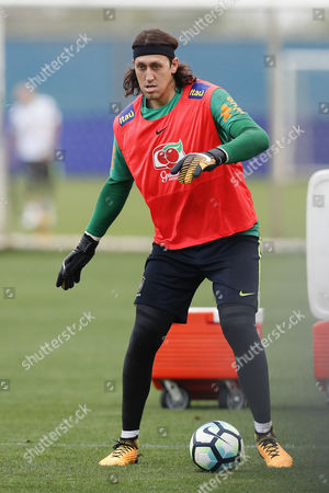 Stock Image of Brazil's national soccer team player Cassio Ramos participates in a training session at the Gremio Club in Porto Alegre, Brazil, 28 August 2017. Brazil prepares to face Ecuador next 31 August for the Russia World Cup 2018 qualifiers.
