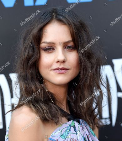 Isabelle Cornish arrives at the world premiere of 'Inhumans' at Universal CityWalk, in Universal City, Calif
