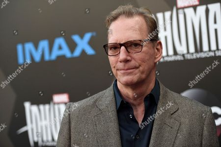 """Executive producer Scott Buck arrives at the world premiere of """"Inhumans"""" at Universal CityWalk, in Universal City, Calif"""