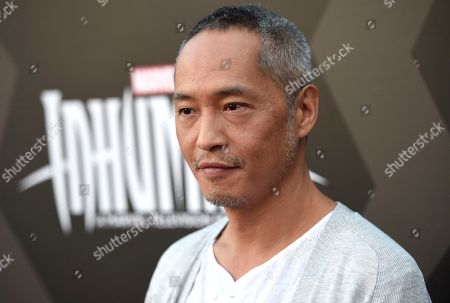 "Ken Leung arrives at the world premiere of ""Inhumans"" at Universal CityWalk, in Universal City, Calif"