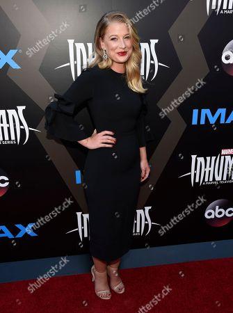 "Ellen Woglom arrives at the world premiere of ""Inhumans"" at Universal CityWalk, in Universal City, Calif"