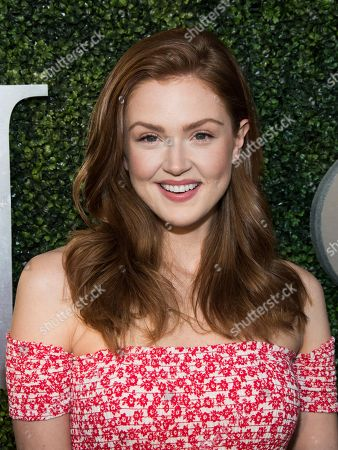Maggie Geha attends the opening night ceremony of the 2017 U.S. Open Tennis Championships at the USTA Billie Jean King National Tennis Center, in New York
