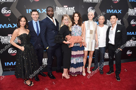 Stock Photo of Sonya Balmores, Anson Mount, Eme Ikwuakor, Ellen Woglom, Isabelle Cornish, Serinda Swan, Ken Leung and Mike Moh