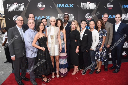 Greg Foster, Imax Entertainment CEO, Jeph Loeb, EVP, Head of Marvel Television, Ben Sherwood, Co-Chairman, Disney Media Networks / President, Disney-ABC Television Group, Sonya Balmores, Anson Mount, Serinda Swan, Isabelle Cornish, Eme Ikwuakor, Ellen Woglom, Mike Moh, Ken Leung, Channing Dungey, ABC Entertainment President, Scott Buck, Creator, and Patrick Moran, ABC Studios President