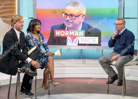 Richard Madeley and Ranvir Singh with Norman Pace