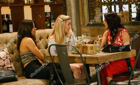 Ep 9242 Sunday 3rd September 2017 Rana Nazir, as played by Bhavna Limbachia, and Kate Connor, as played by Faye Brookes, go on a girls' night out but when Kate attracts the interest of a girl called Imogen, as played by Melissa Johns, Rana feels surplus to requirements. Imogen drapes herself over tipsy Kate. Feeling like a third wheel, Rana loses her temper, accusing Imogen of taking advantage of Kate. As the girls row who will Kate side with?